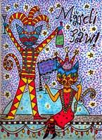 Mardi Paw II Fine Art Print