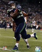 Earl Thomas 2014 with the ball Fine Art Print