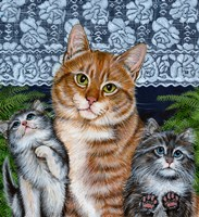 Window Kitties Fine Art Print