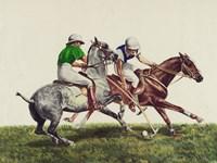 Polo - two horses Fine Art Print