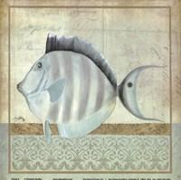 """Vintage Fish III by Elizabeth Medley - 8"""" x 8"""""""