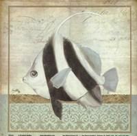 """Vintage Fish I by Elizabeth Medley - 8"""" x 8"""""""