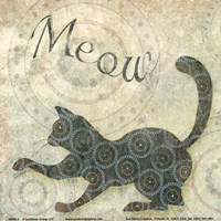 "Meow by SD Graphics Studio - 6"" x 6"""