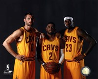 Kevin Love, Kyrie Irving, & LeBron James 2014 Fine Art Print