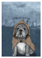English Bulldog with Stonehenge Fine Art Print