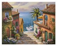 Villas Private Dock Fine Art Print