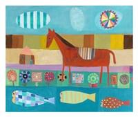 Red Horse Fine Art Print