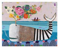 Spring Whale Framed Print