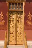 Temple Door, Laos Fine Art Print