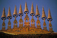 Temple Decoration, Vientiane, Laos Fine Art Print