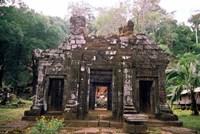 Temple Sanctuary, Wat Phu Khmer Ruins, Champasak, Laos Fine Art Print