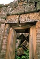 Wat Phu Khmer Palace Doorway, Champasak, Laos Fine Art Print