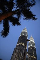 Malaysia, Petronas Twin Towers, Modern buildings Fine Art Print