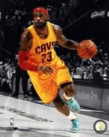LeBron James 2014-15 Spotlight Action Framed Print