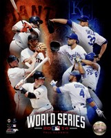 2014 MLB World Series Match Up Composite San Francisco Giants vs. Kansas City Royals Fine Art Print