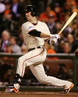 Buster Posey Game 4 of the 2014 World Series batting Fine Art Print