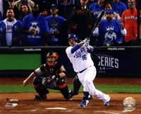 Billy Butler Game 6 of the 2014 World Series Action Fine Art Print