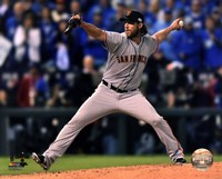 Madison Bumgarner Game 7 of the 2014 World Series Action Framed Print