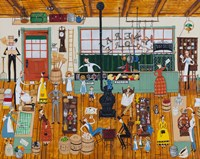 A Day At The General Store Fine Art Print
