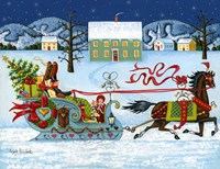 Christmas Sleigh by Joseph Holodook - various sizes