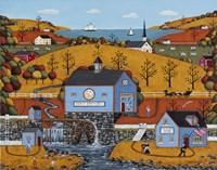 Half Moon Mill Fine Art Print