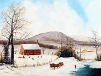 Winter School Days by Joseph Holodook - various sizes