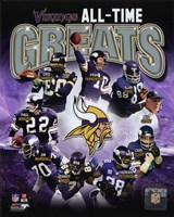 Minnesota Vikings All-Time Greats Composite Framed Print