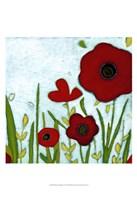 Precious Poppies IV Framed Print