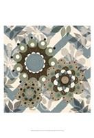 Chambray Rosettes & Finials I Framed Print