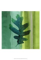 "Silver Leaf Tile III by James Burghardt - 13"" x 19"""