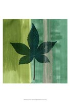 "Silver Leaf Tile IV by James Burghardt - 13"" x 19"""