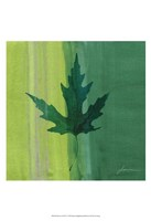 "Silver Leaf Tile V by James Burghardt - 13"" x 19"""