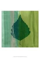 """Silver Leaf Tile VI by James Burghardt - 13"""" x 19"""""""