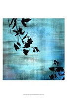 "Aqua Floral II by James Burghardt - 13"" x 19"""