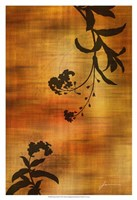 "Sepia Floral I by James Burghardt - 13"" x 19"""