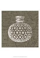 "Map Bottles I by James Burghardt - 13"" x 19"""
