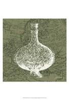 "Map Bottles IV by James Burghardt - 13"" x 19"""