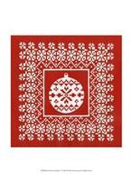 "Fair Isle Snowflake V by Chariklia Zarris - 10"" x 13"""