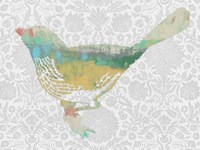 Patterned Bird I by Jennifer Goldberger - various sizes