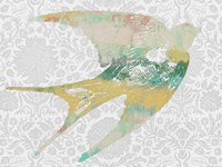 Patterned Bird II by Jennifer Goldberger - various sizes