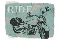 "Motorcycle Ride I by Jennifer Goldberger - 19"" x 13"""