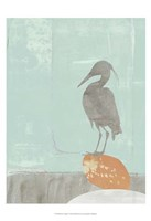 "Heron Collage I by Jennifer Goldberger - 13"" x 19"""
