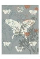 Flowers & Butterflies II Fine Art Print
