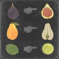 Blackboard Fruit I Fine Art Print