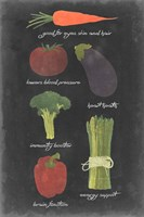 Blackboard Veggies I Fine Art Print
