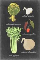 Blackboard Veggies II Fine Art Print