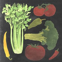 Blackboard Veggies III Fine Art Print
