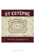 "Burgundy Wine Labels III by June Erica Vess - 13"" x 19"""