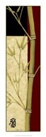 "Meditative Bamboo Panel II by Jennifer Goldberger - 12"" x 36"""