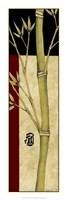 "Meditative Bamboo Panel IV by Jennifer Goldberger - 12"" x 36"""